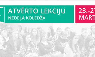"""KULTŪRAS KOLEDŽA AICINA UZ """"ATVĒRTAJĀM LEKCIJĀM""""."""