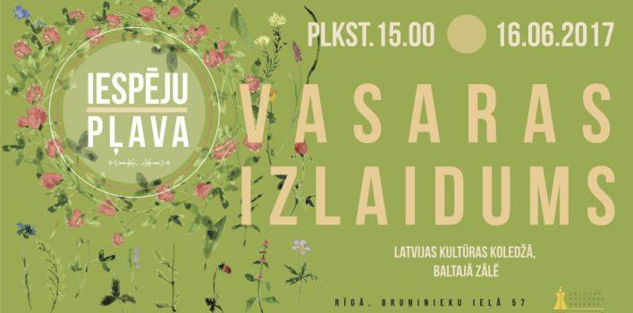 VASARAS IZLAIDUMS 16.JŪNIJĀ
