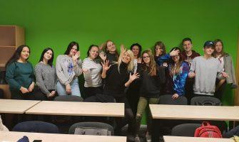 Siguldas Radošo industriju klase viesojas koledžā