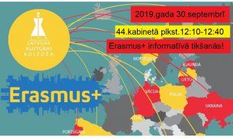 Studentus aicina uz Erasmus+ informatīvo tikšanos