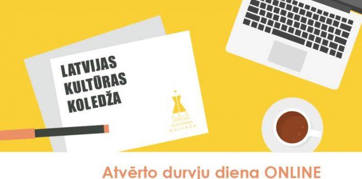 Online atvērto durvju diena Latvijas Kultūras koledžas Facebook profilā