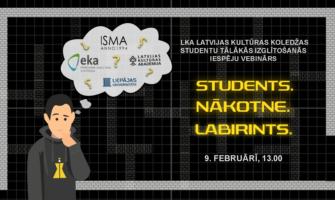 9. februāri notiks vebinārs par tālāk izglītības iespējām Latvijas Kultūras koledžas absolventiem