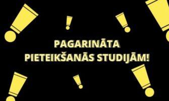 Pagarinām pieteikšanos studijām līdz 2.AUGUSTAM!